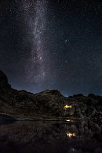 Milky Way above the Refuge de Nice, Mercantour, France