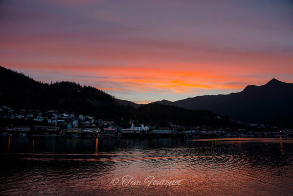 Sun Rising Over Ketchikan, Alaska USA