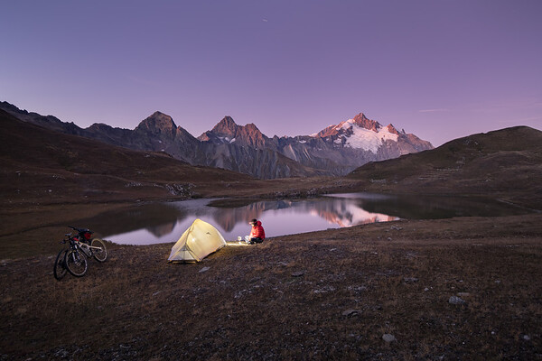 Bivouac at Lac de Mya, Beaufortain, France