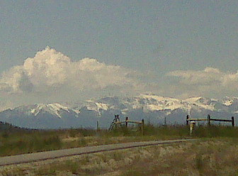 Bear Tooth Mountains taken with a Blackberry.