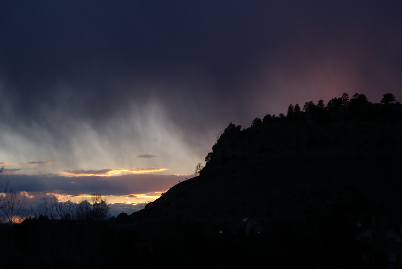 Snow storm coming over the Rimrock Mountains in Billings, MT.