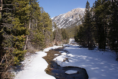 Rock Creek and the base of the Bear Tooth Mountain Pass.