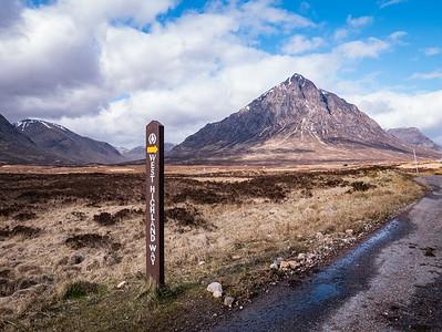 Buachaille Etive Mor along the West Highland Way