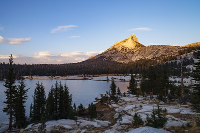 Last rays on Cathedral Peak
