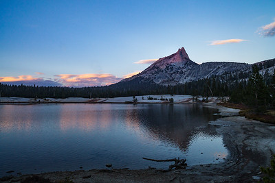 Alpenglow on Cathedral Peak