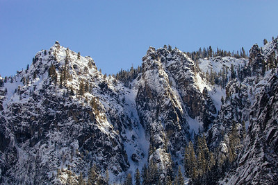 Snowy crags