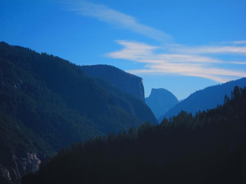 El Capitan and Half Dome.