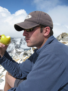 Chris read somewhere that eating an apple helps with acclimatization.  Hey, whatta got to lose!