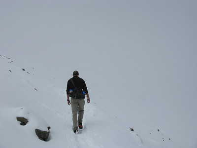 Never been in a white-out before? But not so bad that you couldn't see the trail at your feet.