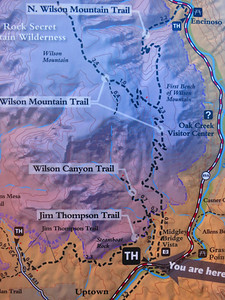 We'll be hiking up the Wilson Mtn Trail to that outlook point off the 0.4 mile side trail.
