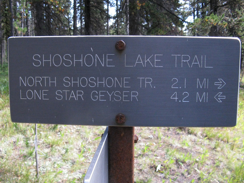 So now, 4.2 miles to the Geyser, then 2.7 more to the car - lots of trail but nothing steep.