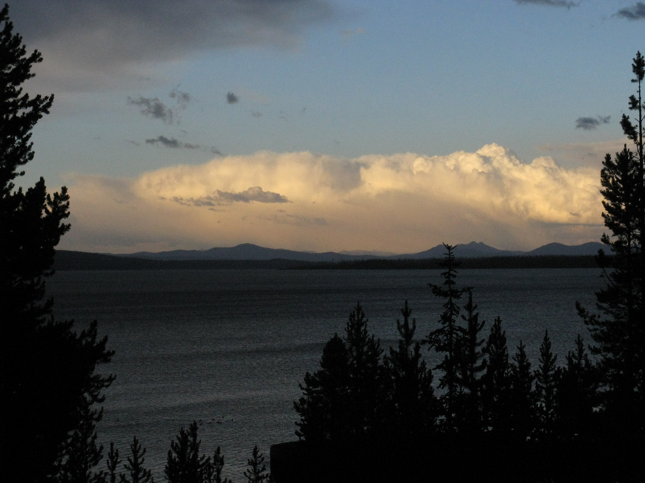 Dining on the Yellowstone Lake shore.