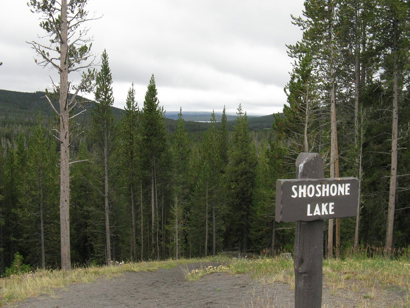 Hey, a distant view of Shoshone Lake, about the closest you can drive to it.