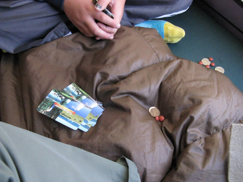 They may look like pills, but they're actually poker chips - real Yellowstone cards too.