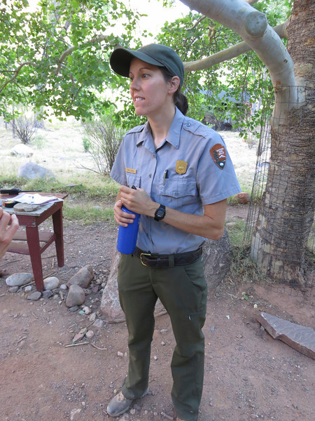 This lady ranger was such a delight - and so knowledgeable on many topics.