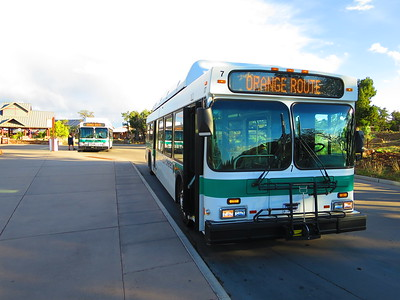 At hand, the required bus ride to the South Kaibab Trailhead - the first stop in its circuit.