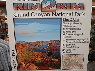 "We would see lots of ""runners"" over the next few days - most of them doing Rim-to-Rim-to-Rim (i.e., round-trip), as the North Rim is not open to cars or services until May 15th every year. .. http://www.runnersworld.com/trails/running-rim-rim .... http://www.ultrarunning.com/features/destinations/grand-canyon-basics-rim-to-rim-to-rim/"