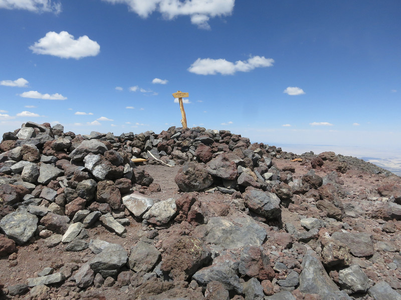 YES! - the summit within the wind shelter.