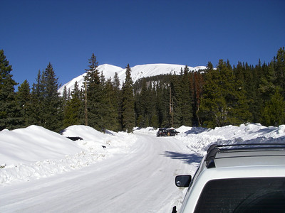East Ridge and summit can be seen from the winter TH.