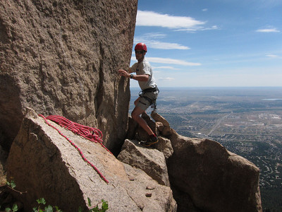 Attempting The Horns on Cheyenne Mtn, 7/12/11