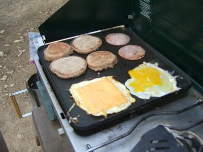 Fresh Egg McMuffins for breakfast.