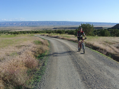 Near our camp just north of Fruita, with the Grand Valley below. From COS, Fruita is about a 5.5 - 6 hr drive.