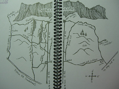 Overall map.  The free public campground is the area left of center - between Joe's Ridge and Kessel Run.