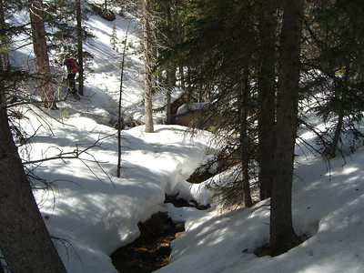 The creek feeding Horsethief Falls.