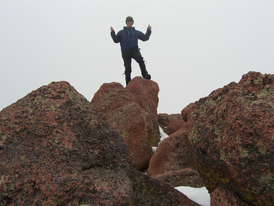 Then they told me I had been on the false summit, so I moved over several yards to the real one!
