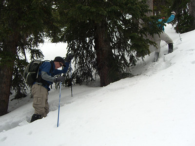 Rats: eventually the snow was so soft and deep that virtually all of us were kinda postholing, not just the front dude!