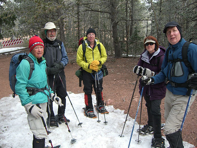 It's always smart to get the group photo near the start - when folks are still nice and friendly.  :) L-R: Olga, Eric, Rick (leader), Lori and Bruce.