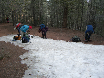Hmm, time to stop carrying our snowshoes.