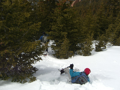 Descent was often quite steep and through still very soft snow.