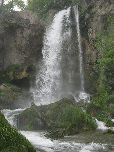 Rifle Falls State Park is a little north of I-70, several miles west of Glenwood Springs - a great detour.