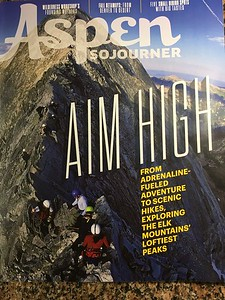 The cover of the Mid-Summer/Fall 2017 issue, showing a busy Knife Edge on Capitol Peak - more images at end.