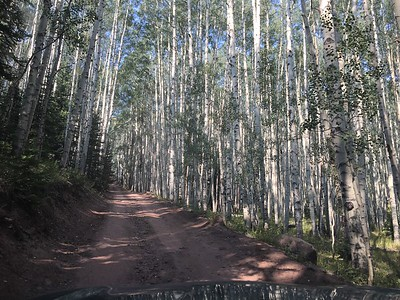 Pretty nice dirt road out of the town of Snowmass to the Capitol Creek Trailhead.