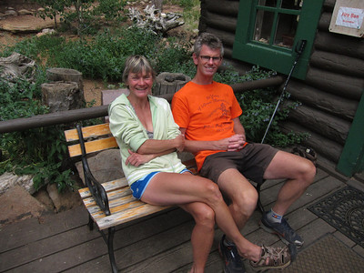 Our amazing and gracious hosts: Teresa and Neal Taylor, here since 2005. .. Both are also ultra-mountain runners.