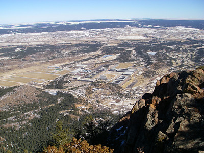 Looking down from 9423'.