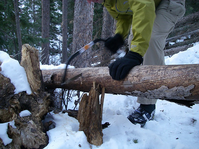 Bow saws are easy to carry - and cut way better than a knife!