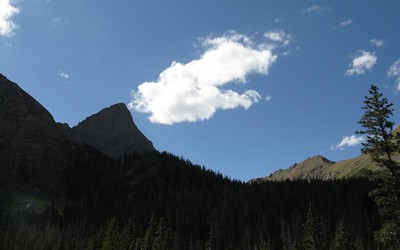 Crestone Needle with its stunning Ellingwood Arete prominent along the right skyline.