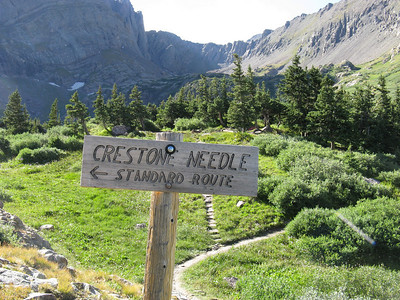 My campsite will be on the knoll, just above the top of the sign.