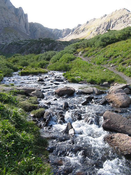 A little below the lake's outlet - where I got my water.