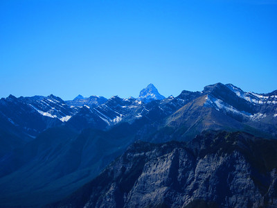 "It tops out at 11,870' - ""the Matterhorn"" of the Canadian Rockies."