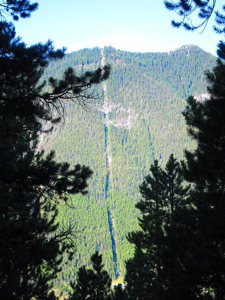 Looking across at Sulphur Mtn Gondola route - summit to right.