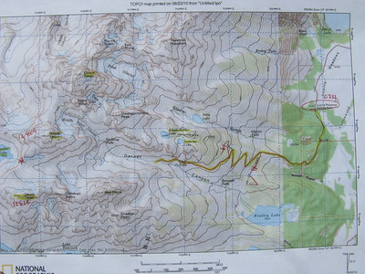 The trail is well-defined into center of Garnet Cyn.