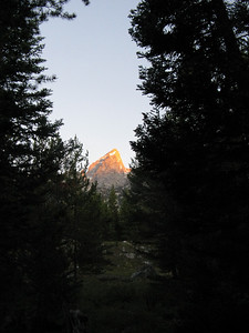 Tuesday, 8/24/10, 6:30 am - first view of the Grand from Lupine Mdws TH.