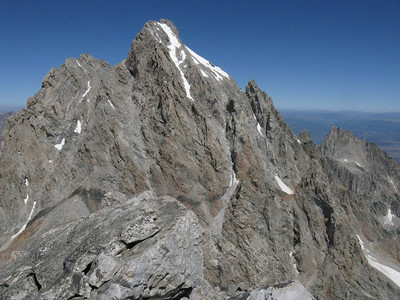 Climbing the Middle Teton, 8/24/10
