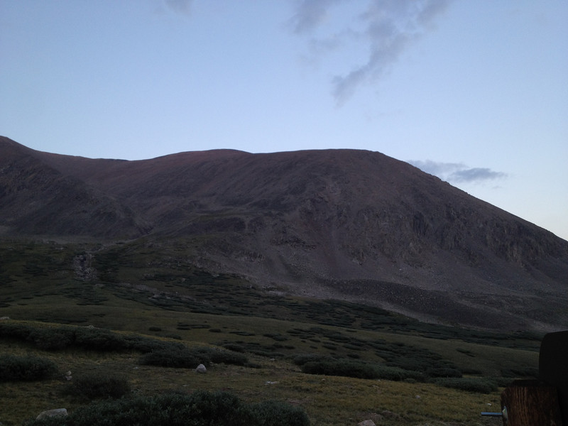 Bross is similar to Cameron, just a local high point on a broad ridge - out of sight to left here.