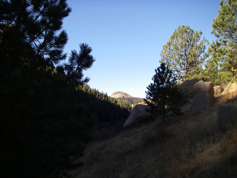 Coming into view - this is actually an unnamed smaller dome west of Dome Rock, which is hidden on the left at this point (but I was tricked for awhile).