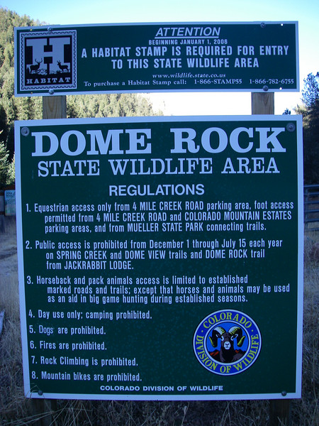 I already had a Habitat Stamp.  Note: rock climbing is prohibited. SWA - State Wildlife Area!